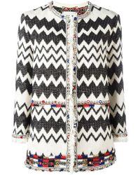 Bazar Deluxe - Zigzag Tweed Jacket - Lyst
