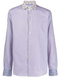 Etro - Long-sleeve Fitted Shirt - Lyst