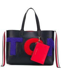 3cd2930301b Lyst - Tommy Hilfiger Stripe Tote Bag in Blue