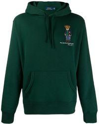 Polo Ralph Lauren Худи С Логотипом И Кулиской - Зеленый