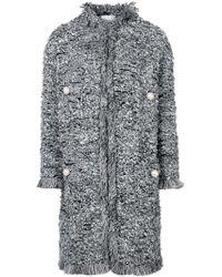 Edward Achour Paris - Pearl Embellished Coat - Lyst
