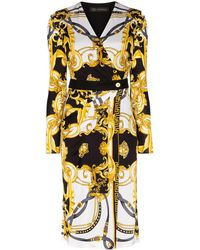 Versace Barocco Rodeo Queen Wrap Dress - White