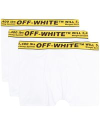 Off-White c/o Virgil Abloh - Pack de tres bóxeres con franja Industrial - Lyst