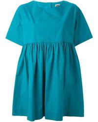 I'm Isola Marras Pleat Oversized Blouse - Blue