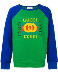 Gucci グッチ プリント スウェットシャツ - グリーン