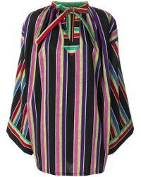 Duro Olowu Minikleid mit Streifen - Mehrfarbig
