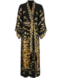 Josie Natori Couture Халат С Вышивкой - Черный