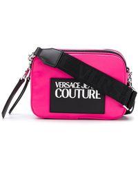 Versace Jeans Schultertasche mit Logo - Pink