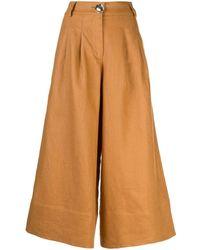 Nicholas Varca Cropped Wide-leg Trousers - Multicolour