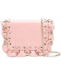 RED Valentino - Red(v) Woven Ruffle Cross-body Bag - Lyst