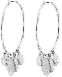 Dior 2000 Pre-owned Coeurs Légers Dangling Hoops - Metallic