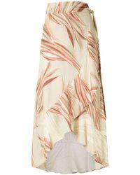 Lygia & Nanny Printed Papoula Skirt - Natural