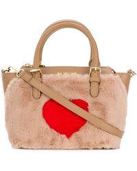 Love Moschino - Faux Fur Cross Body Bag - Lyst