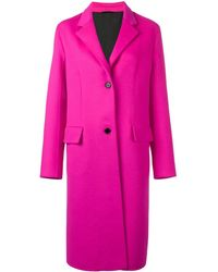 CALVIN KLEIN 205W39NYC Classic Single-breasted Coat - Pink