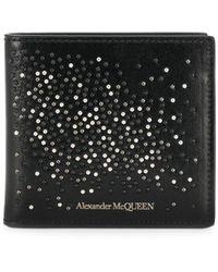 Alexander McQueen Бумажник С Заклепками - Черный