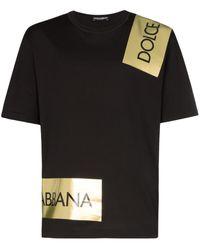 Dolce & Gabbana Logo Tape T-shirt - Black