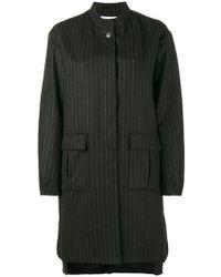 Lot78 - Pinstripe Cocoon Coat - Lyst