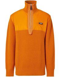 Burberry Джемпер С Высоким Воротником На Молнии - Оранжевый