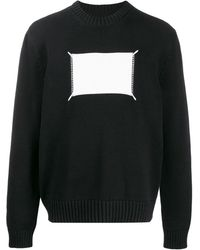 Maison Margiela 'memory Of' Label Knitted Sweater - Blue