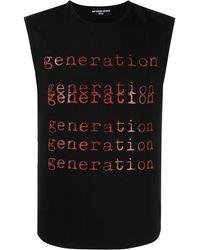 "Raf Simons Trägershirt mit ""Generation""-Print - Schwarz"