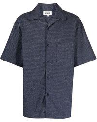 YMC Check Print Shirt - Blue