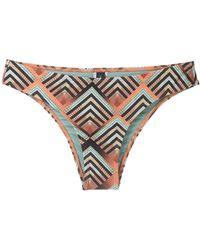 Lygia & Nanny Waikiki Printed Bikini Bottom - Orange