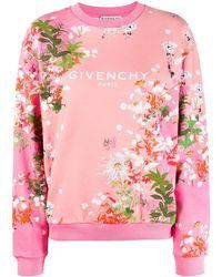 Givenchy フローラル スウェットシャツ - ピンク