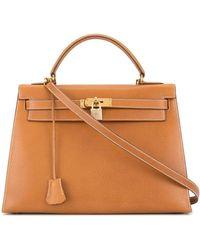 Hermès 1993 Pre-owned Kelly 32 Sellier 2way Bag - Brown