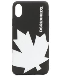 DSquared² Funda para iPhone X con logo - Negro