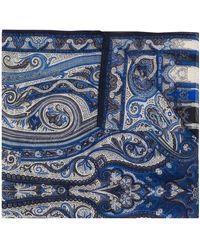 Etro Écharpe Dhely à imprimé cachemire - Bleu