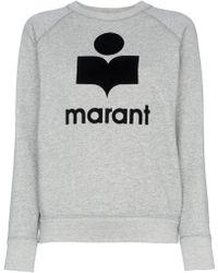 Étoile Isabel Marant - Milly Logo Print Cotton Blend Sweatshirt - Lyst