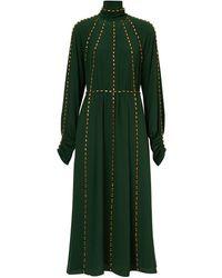 Burberry ビジュートリム ドレス - グリーン