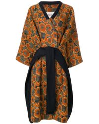 Henrik Vibskov - Floral Jacquard Oversized Wrap Dress Coat - Lyst