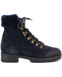 Mr & Mrs Italy Trimmed Hiker Boots - Blue