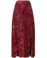 Y. Project Embroidered Floral Maxi Skirt