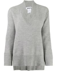 Hope Long-sleeve Flared Jumper - Gray