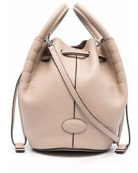 Tod's Drawstring Leather Bucket Bag - Multicolour
