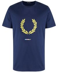 Fred Perry ロゴ Tシャツ - ブルー