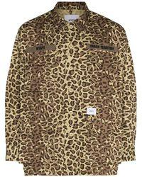 WTAPS Chemise à imprimé léopard - Multicolore