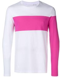 Helmut Lang - Contrast Panelled Long Sleeved T Shirt - Lyst