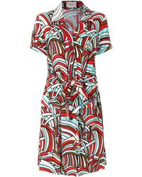 LaDoubleJ Onde Safari Dress - Red