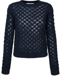 Julien David - Square Knit Jumper - Lyst