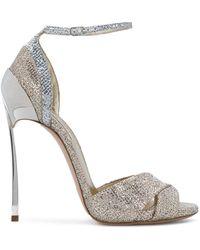 Casadei - Blade Ankle Strap Sandals - Lyst