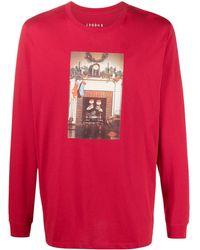 Nike T-shirt Met Print - Rood