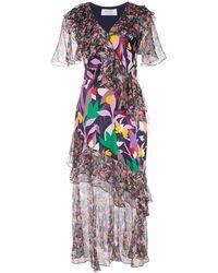 Prabal Gurung ラッフル ドレス - マルチカラー