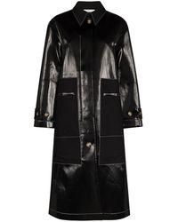 Rejina Pyo Logan Patent Raincoat - Black