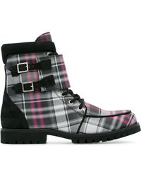 Ganni - Checked Flat Boots - Lyst