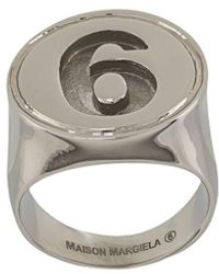 MM6 by Maison Martin Margiela - Number 6 Signet Ring - Lyst