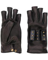 Gucci Studded Fingerless Gloves - Black