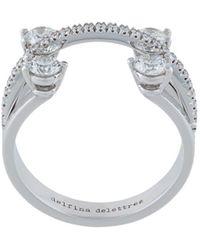 Delfina Delettrez Linked Dots Ring - Metallic